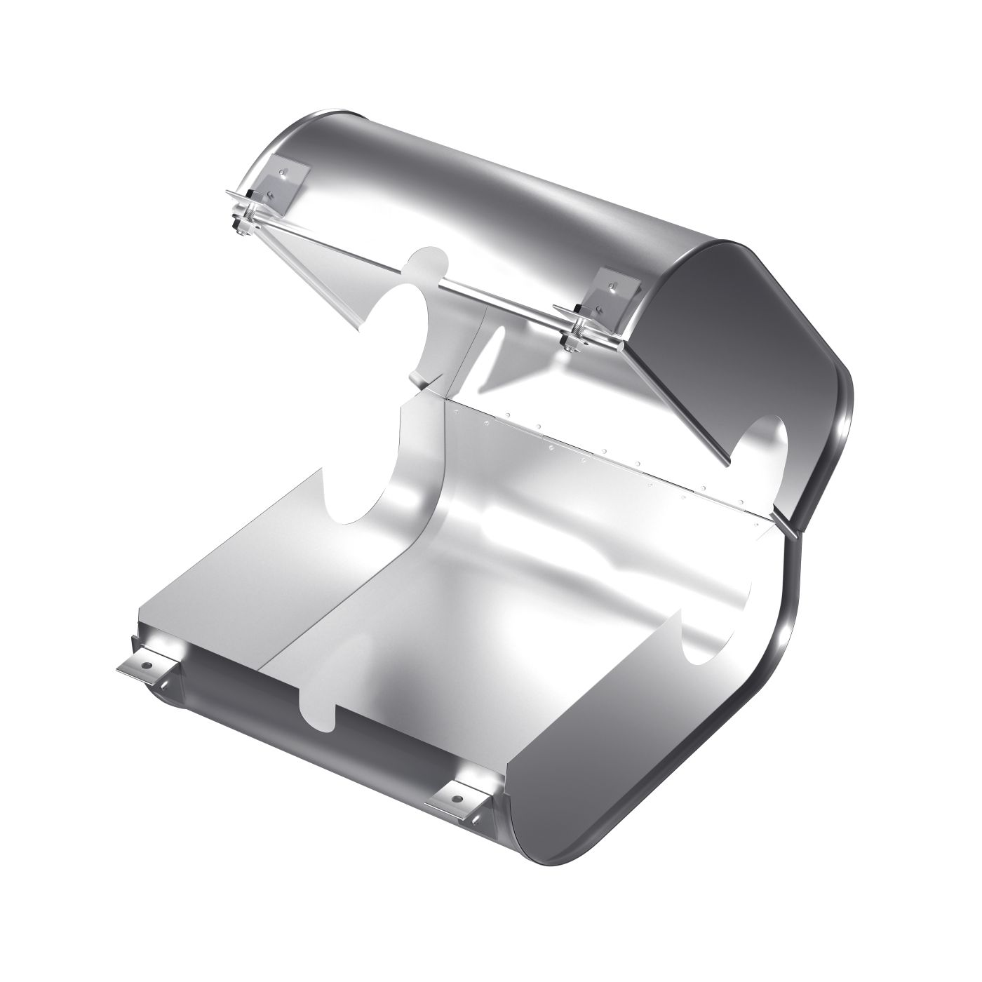 Protective cover_KZF-A_Bolted_Open without flange