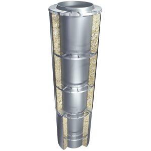 Кольцо опорное и Разгружающее устройство в теплоизоляционной конструкции вертикального трубопровода