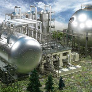 Завод по переработке и хранению нефтепродуктов_строение с БСК_033