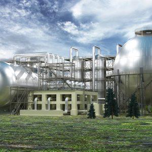 Завод по переработке и хранению нефтепродуктов_строение с БСК_035