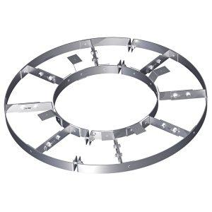 Разгружающее устройство с лапками Н1 и навесными скобами Сnb для нижнего днища вертикальных аппаратов
