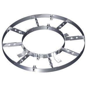 Разгружающее устройство с лапками Н1 и навесными скобами Сnt для верхнего днища вертикальных аппаратов